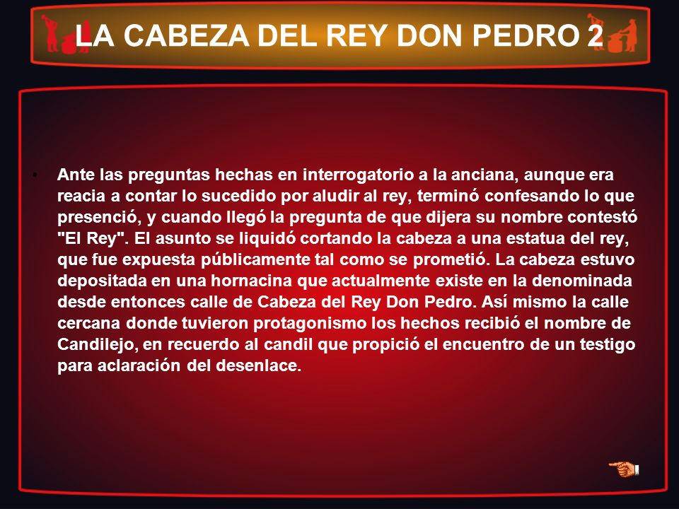 LA CABEZA DEL REY DON PEDRO 2