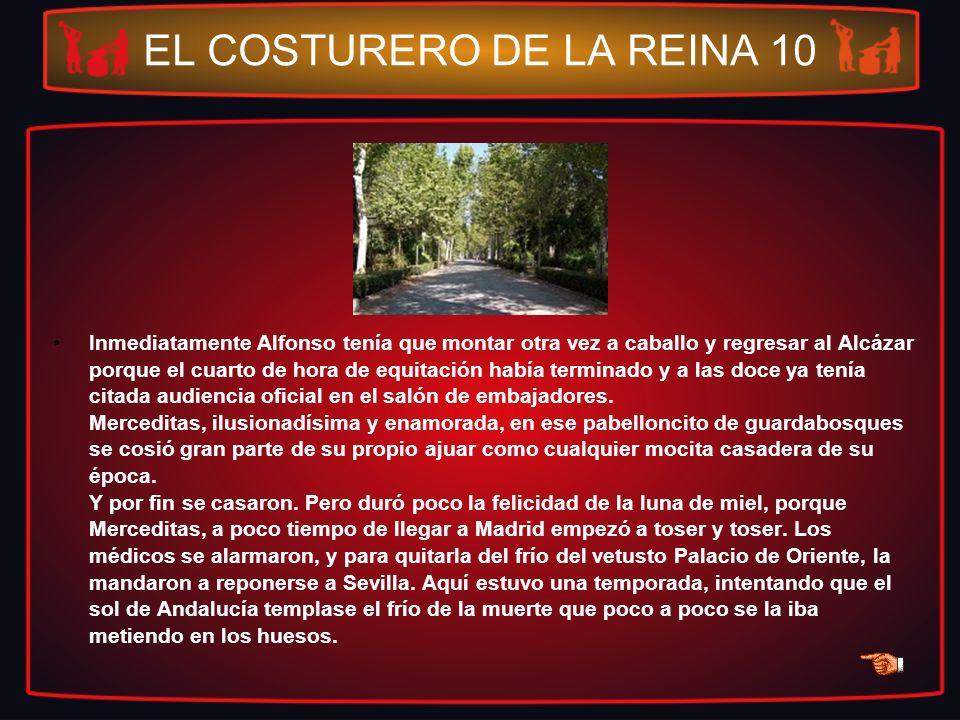 EL COSTURERO DE LA REINA 10