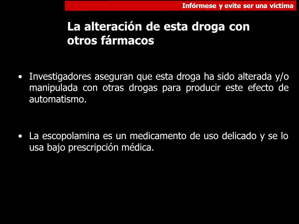 La alteración de esta droga con otros fármacos