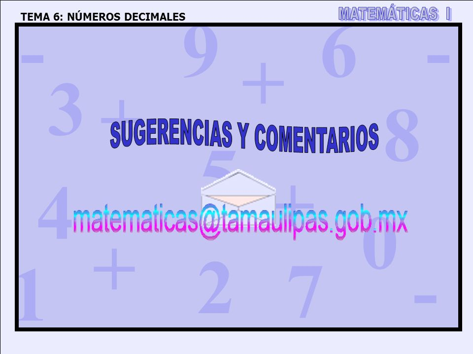 SUGERENCIAS Y COMENTARIOS