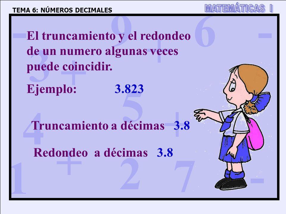 El truncamiento y el redondeo de un numero algunas veces puede coincidir.