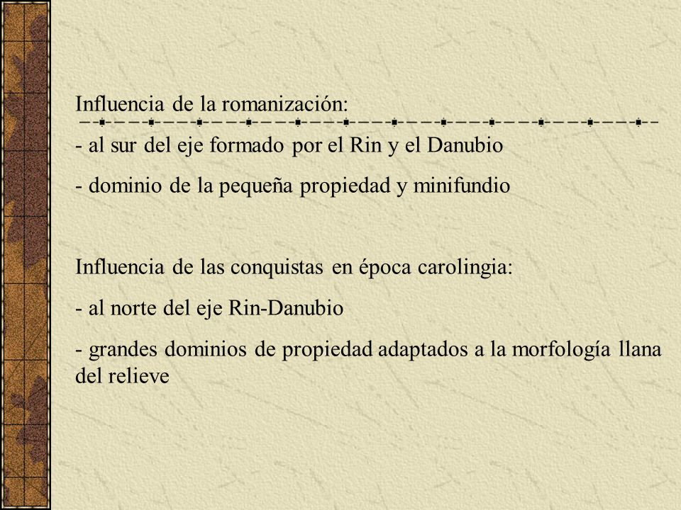 Influencia de la romanización:
