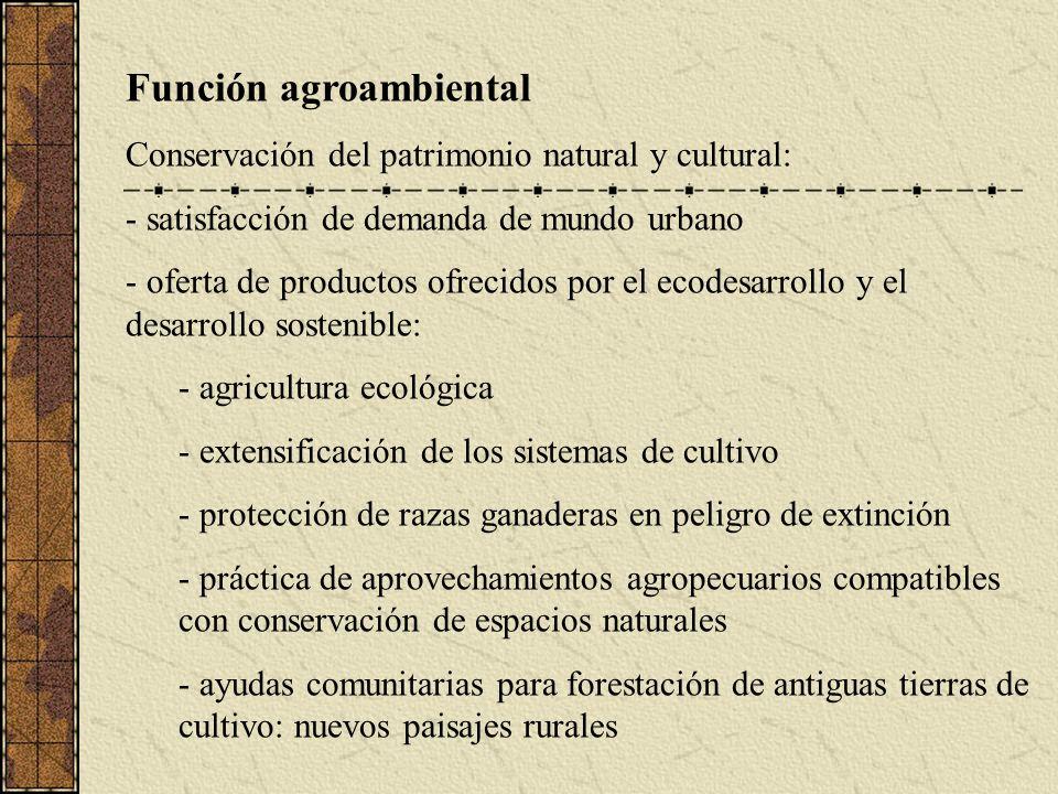 Función agroambiental
