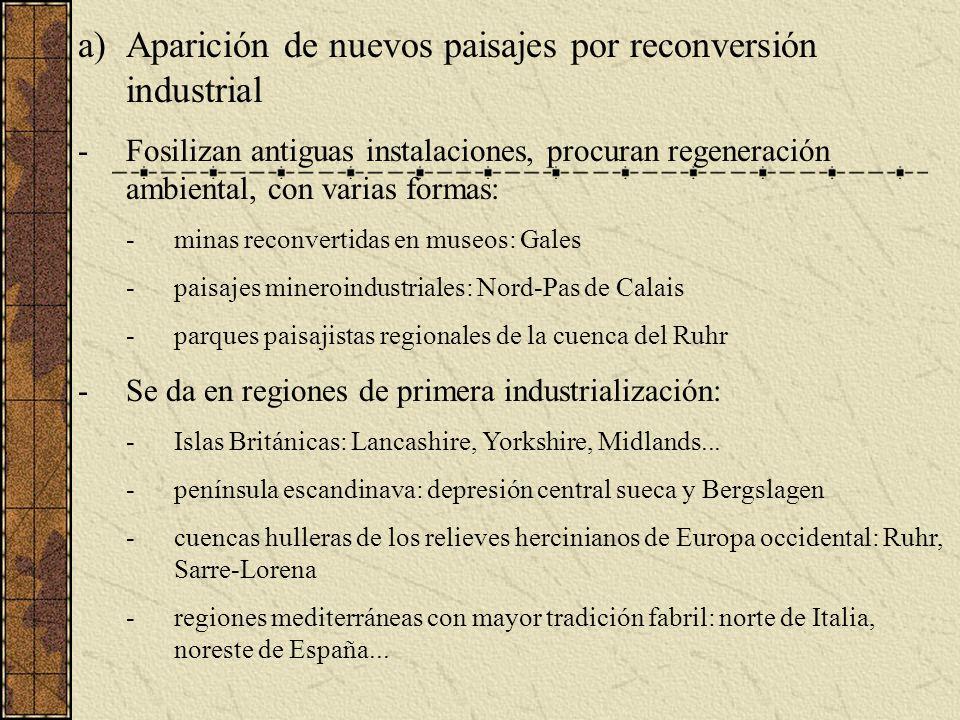 Aparición de nuevos paisajes por reconversión industrial