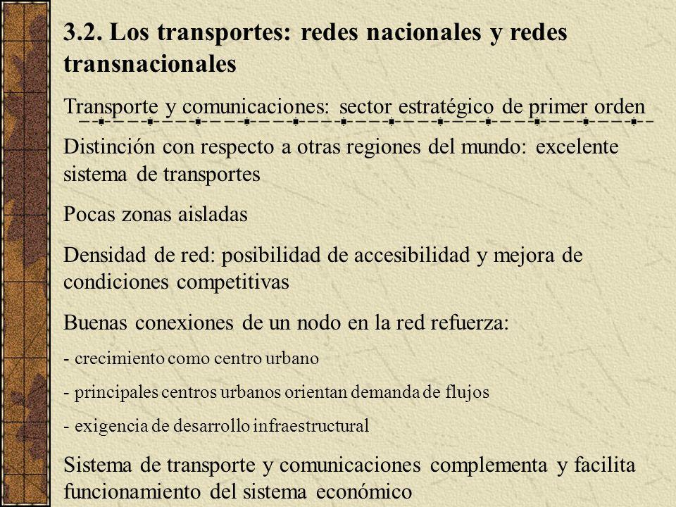 3.2. Los transportes: redes nacionales y redes transnacionales