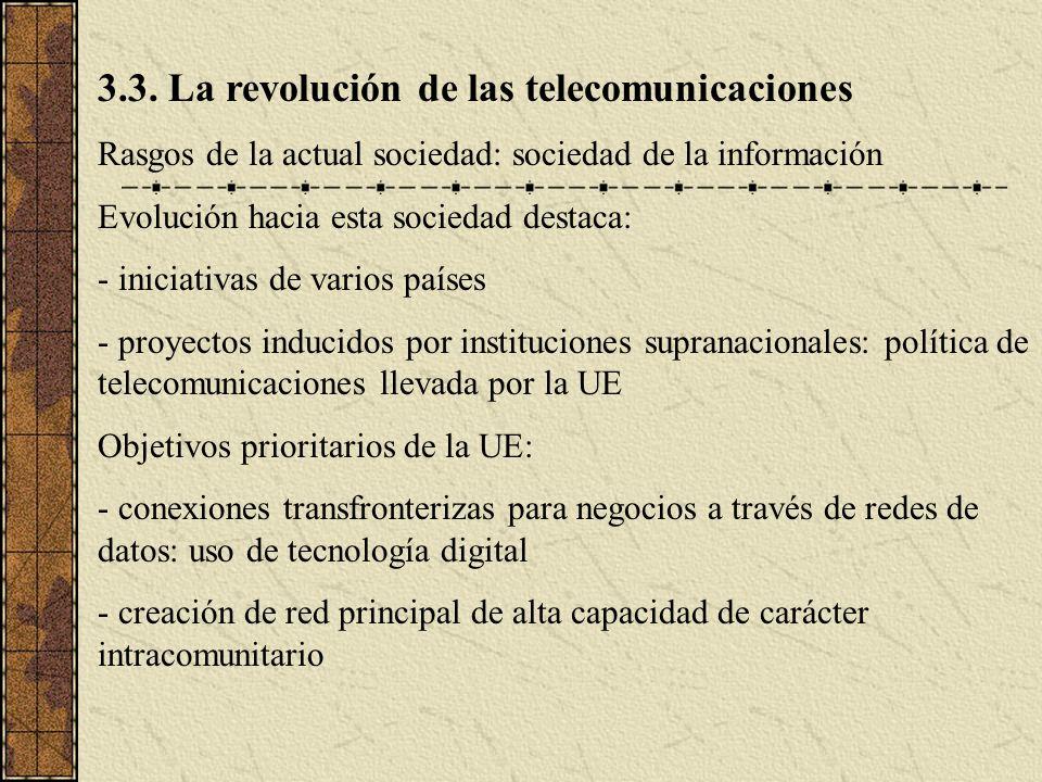 3.3. La revolución de las telecomunicaciones