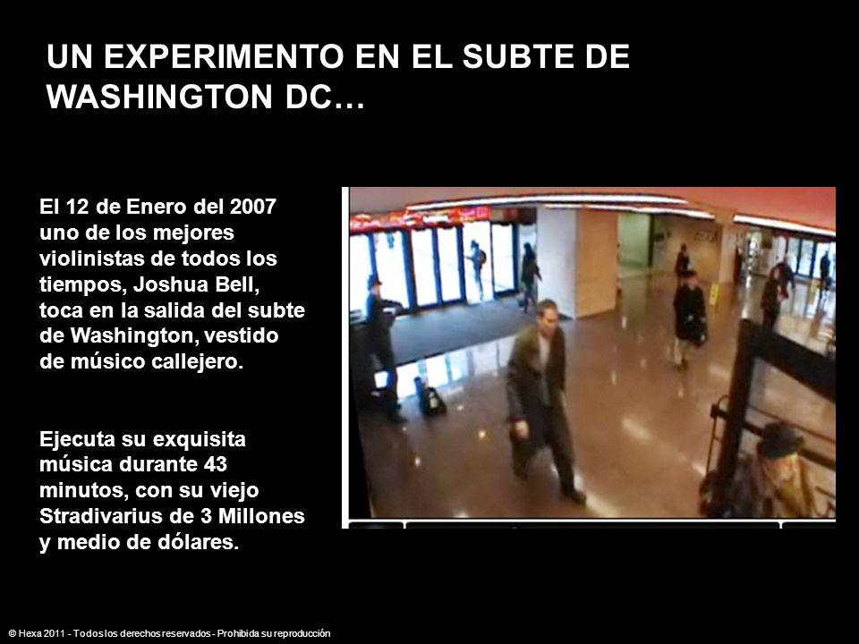 UN EXPERIMENTO EN EL SUBTE DE WASHINGTON DC…