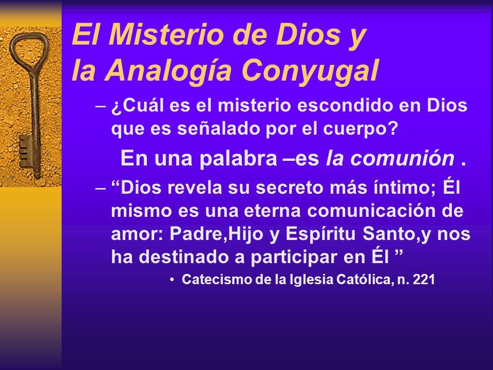 El Misterio de Dios y la Analogía Conyugal