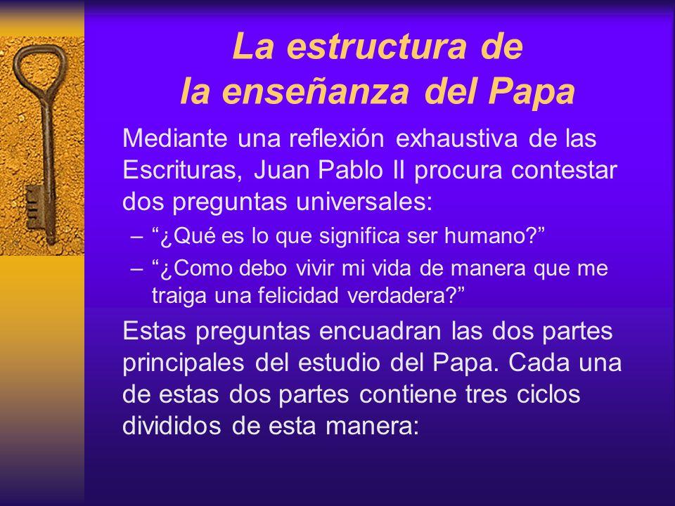 La estructura de la enseñanza del Papa