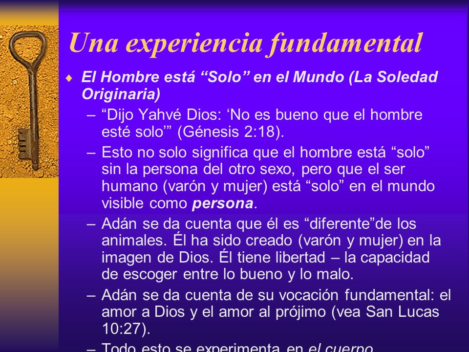 Una experiencia fundamental