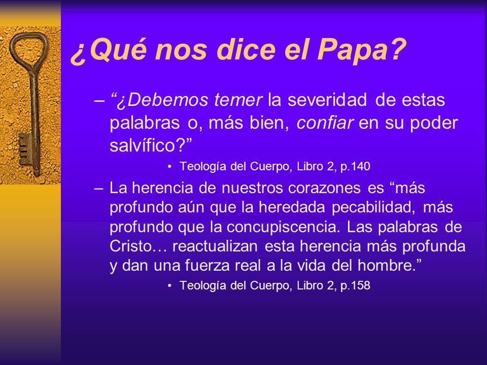 ¿Qué nos dice el Papa ¿Debemos temer la severidad de estas palabras o, más bien, confiar en su poder salvífico