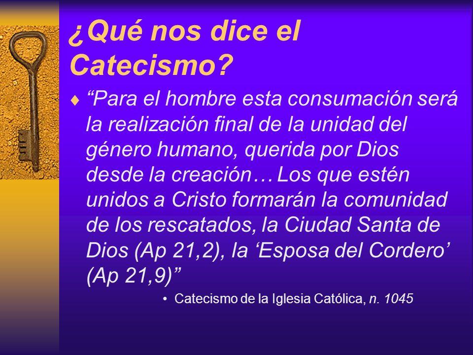 ¿Qué nos dice el Catecismo