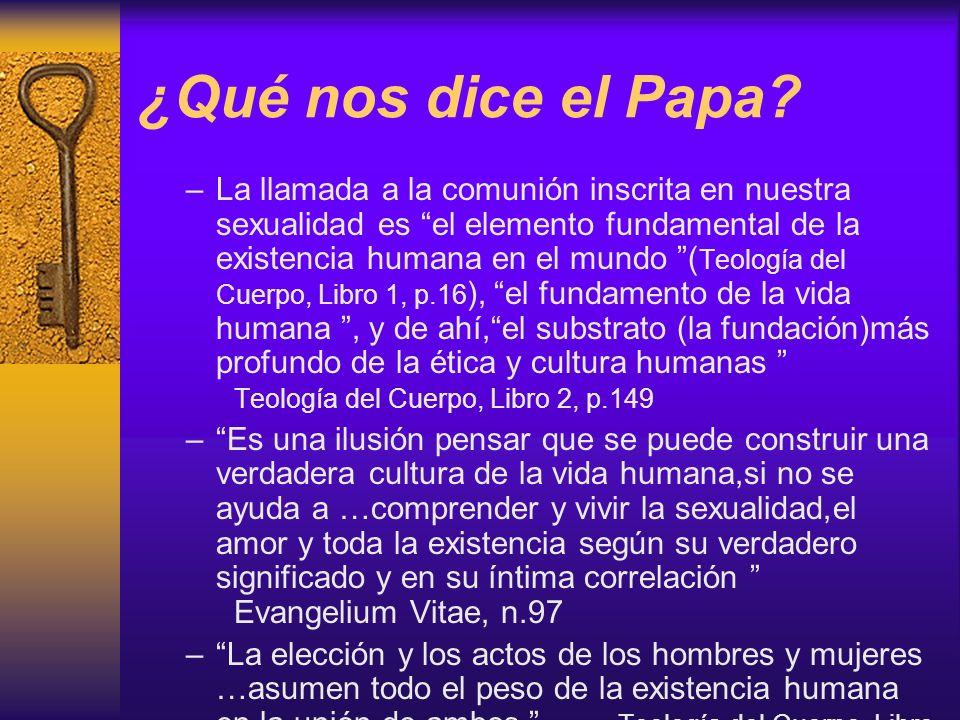 ¿Qué nos dice el Papa