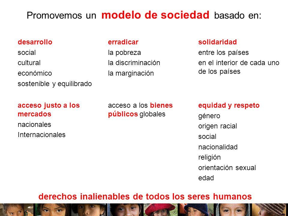 Promovemos un modelo de sociedad basado en: