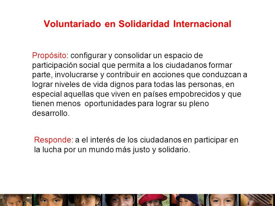 Voluntariado en Solidaridad Internacional