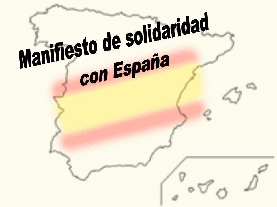 Manifiesto de solidaridad