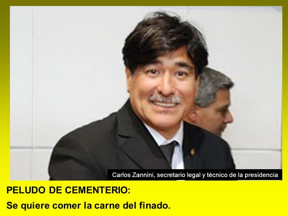 Carlos Zannini, secretario legal y técnico de la presidencia