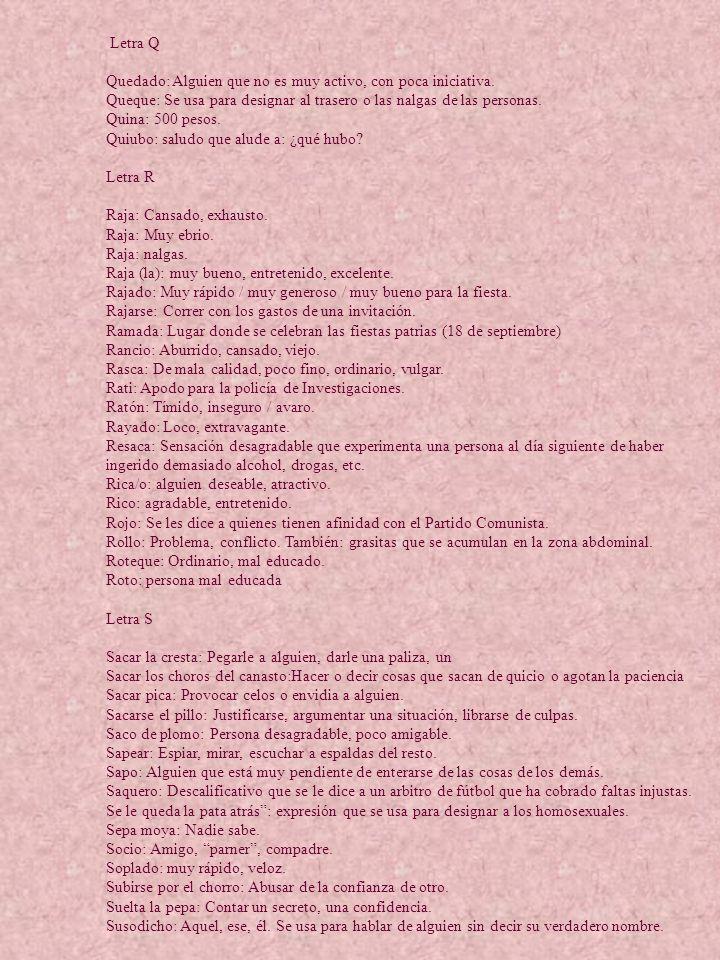 Letra A Letra Q.