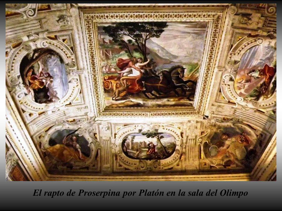 El rapto de Proserpina por Platón en la sala del Olimpo