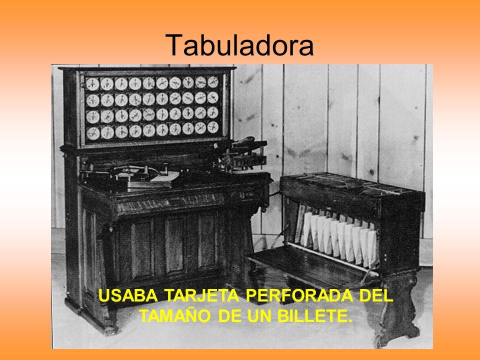 USABA TARJETA PERFORADA DEL TAMAÑO DE UN BILLETE.