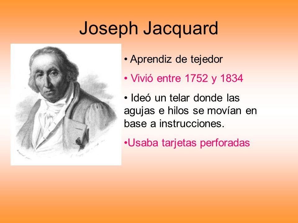 Joseph Jacquard Aprendiz de tejedor Vivió entre 1752 y 1834