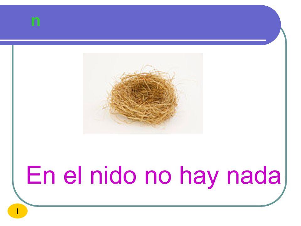 n En el nido no hay nada I