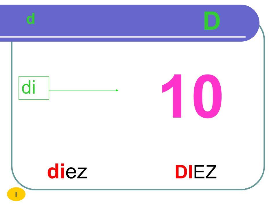 D d 10 di diez DIEZ I