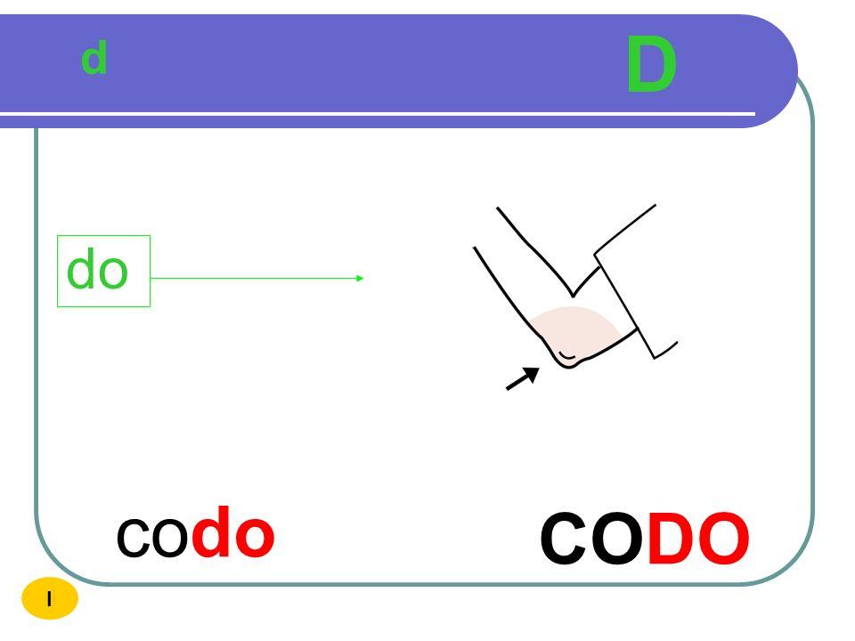 D d do codo CODO I