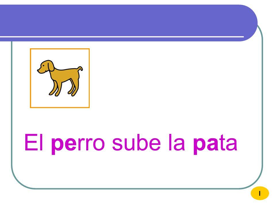 El perro sube la pata I