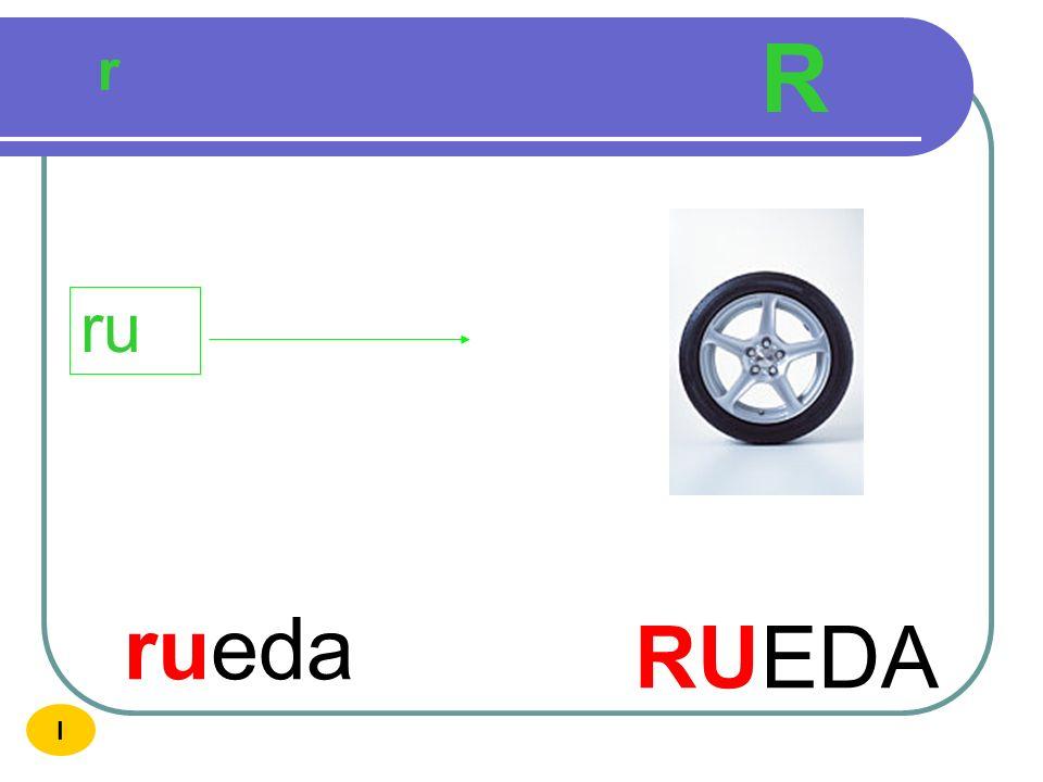 R r ru rueda RUEDA I