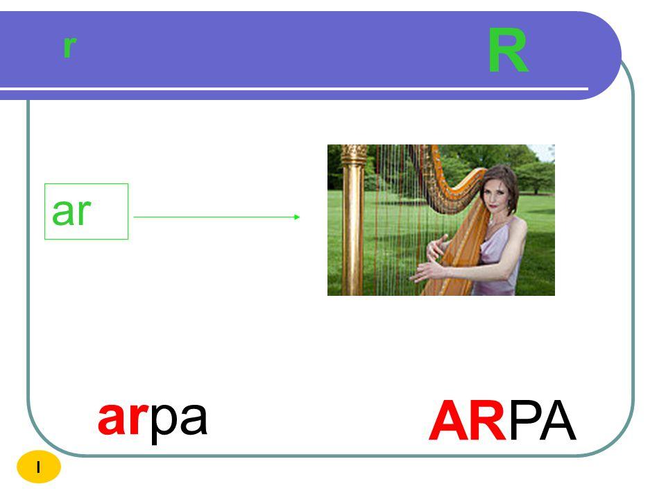 R r ar arpa ARPA I