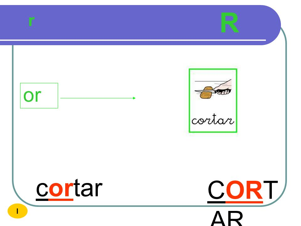 R r or cortar CORTAR I