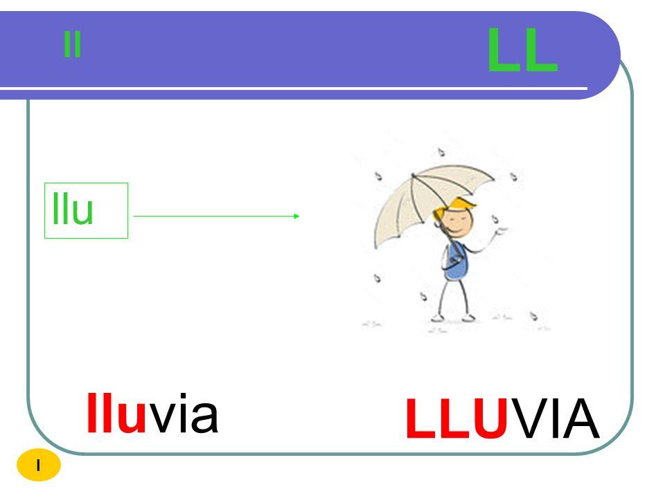 LL ll llu lluvia LLUVIA I