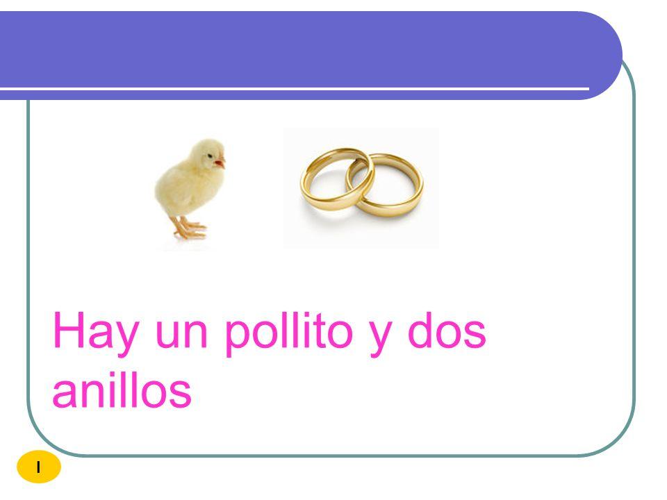 Hay un pollito y dos anillos