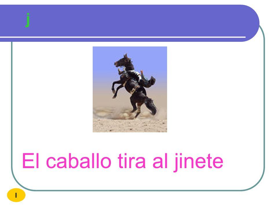 El caballo tira al jinete