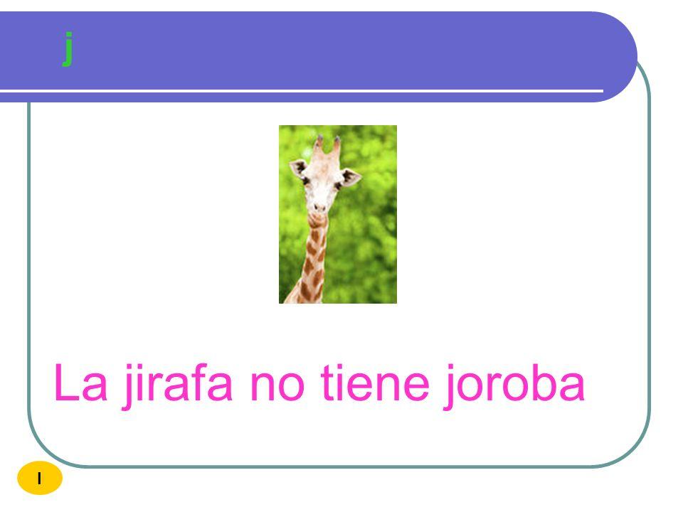 La jirafa no tiene joroba