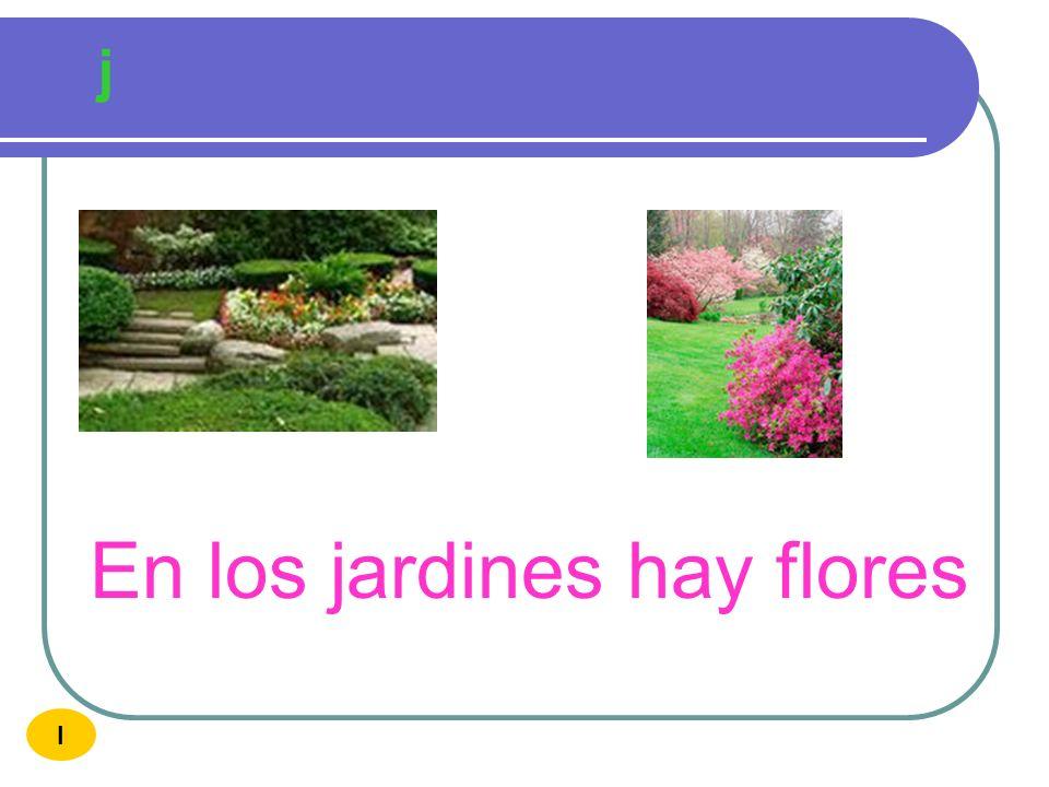 En los jardines hay flores