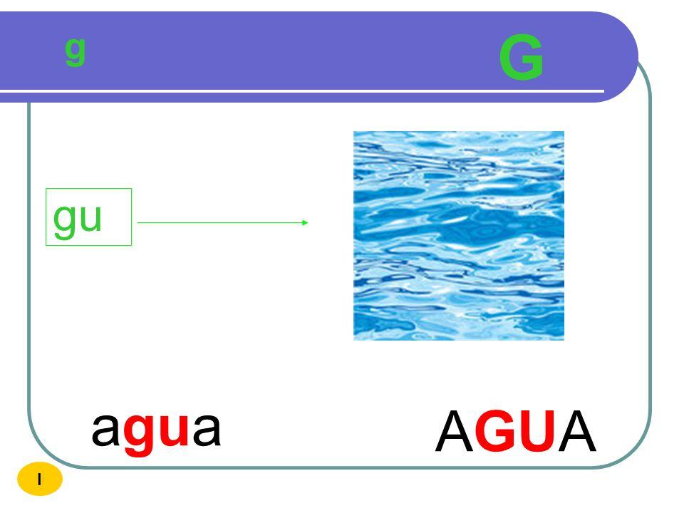 g G gu agua AGUA I