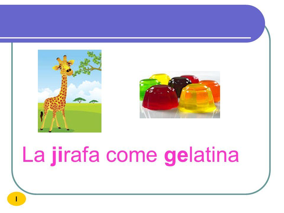 La jirafa come gelatina