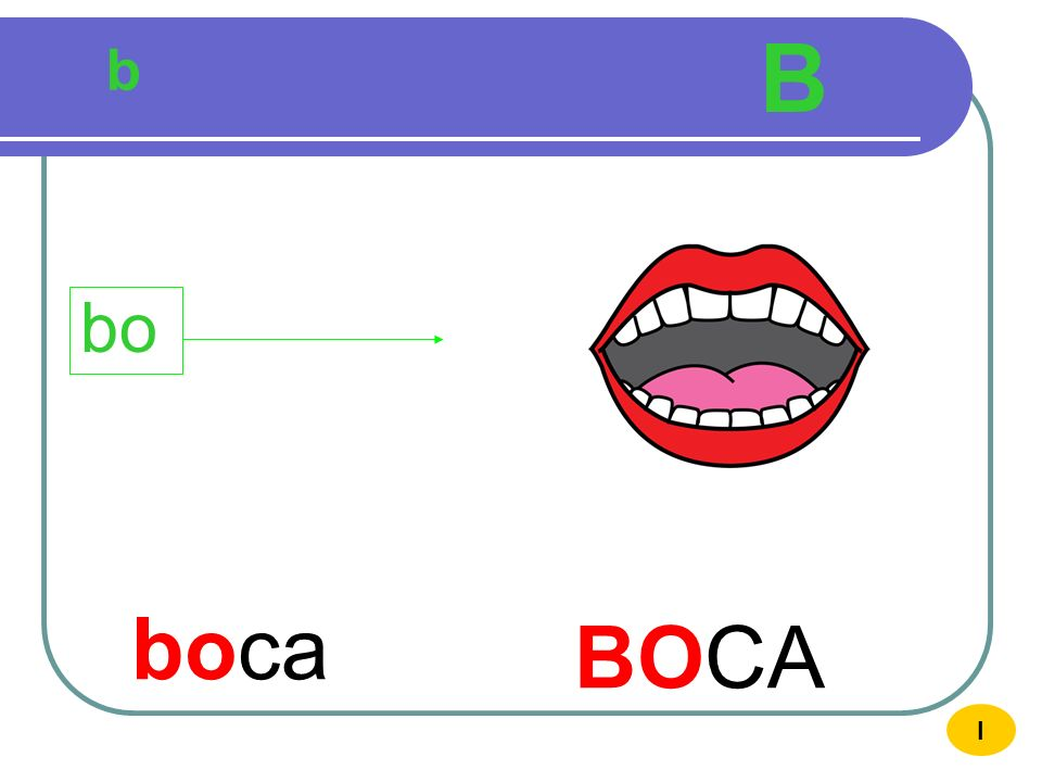 B b bo boca BOCA I