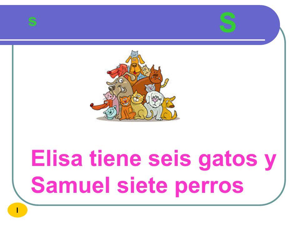 S s Elisa tiene seis gatos y Samuel siete perros I