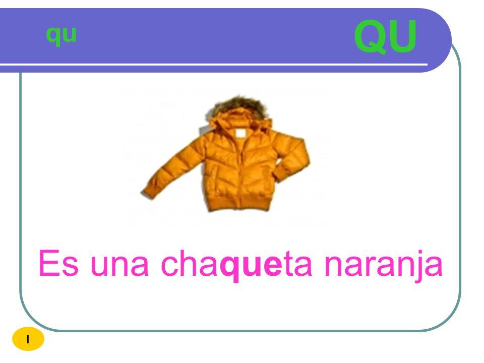 QU qu Es una chaqueta naranja I