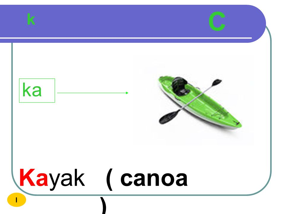 C k ka Kayak ( canoa ) I