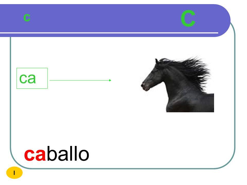 C c ca caballo I