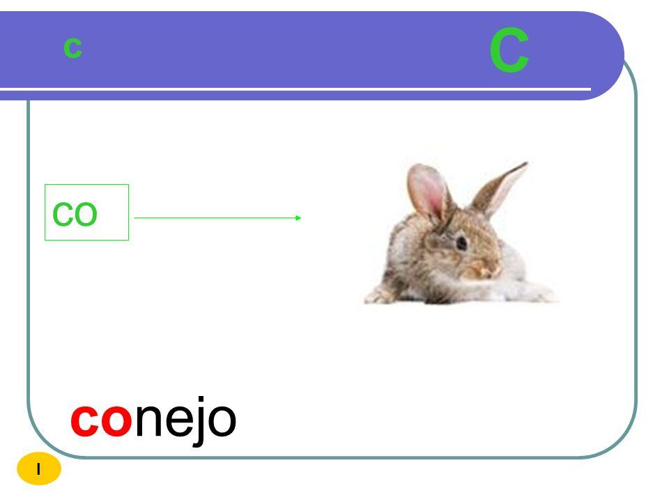 C c co conejo I