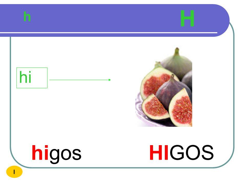 H h hi higos HIGOS I