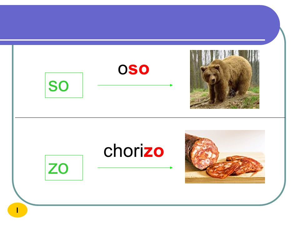 oso so chorizo zo I