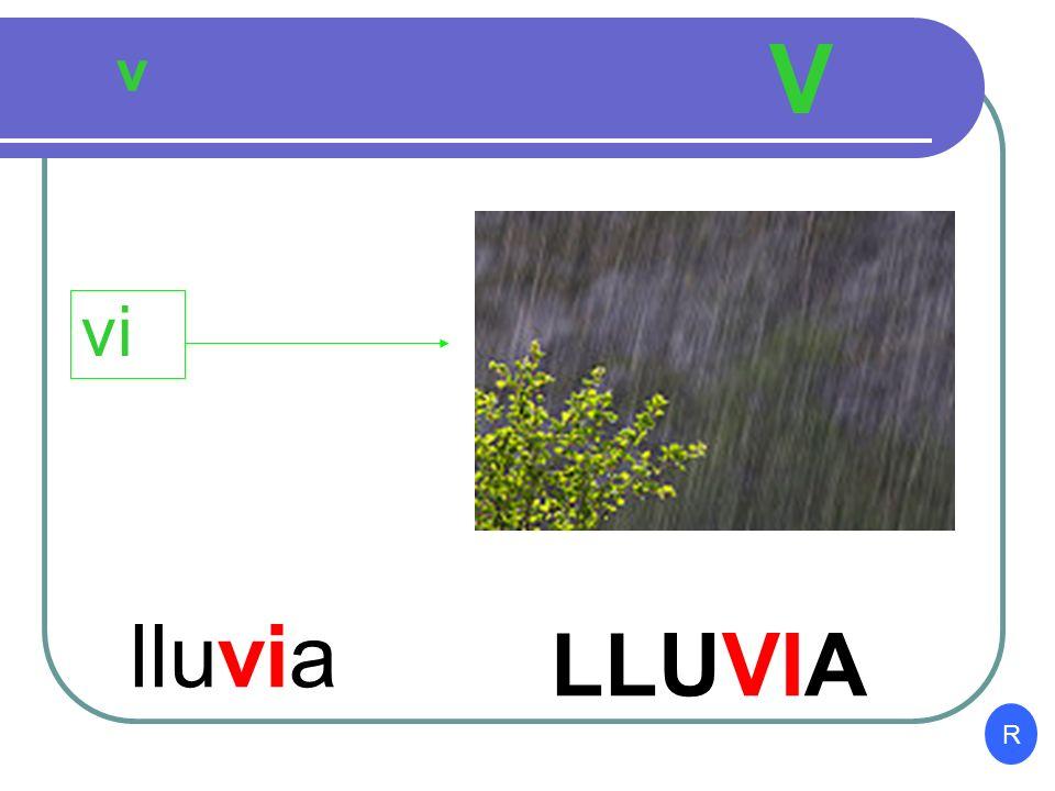 V v vi lluvia LLUVIA R