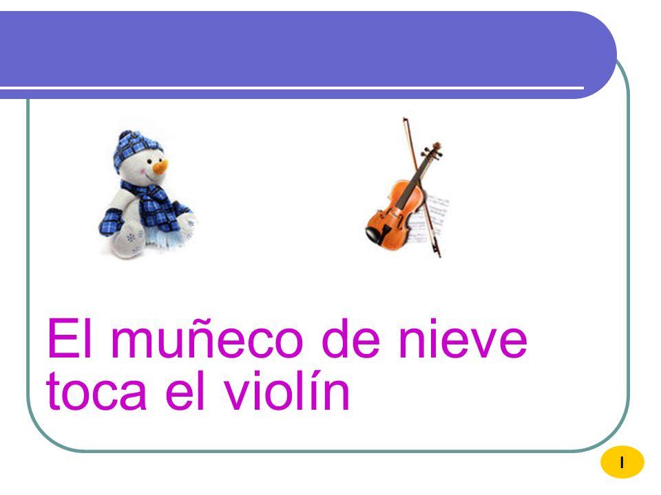 El muñeco de nieve toca el violín