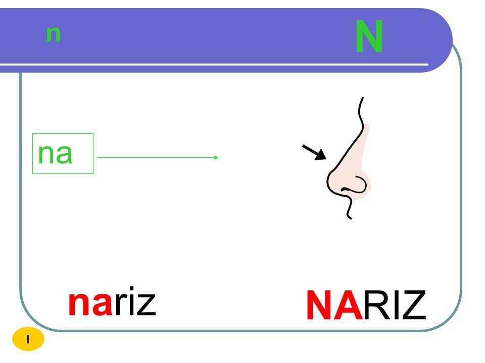 N n na nariz NARIZ I
